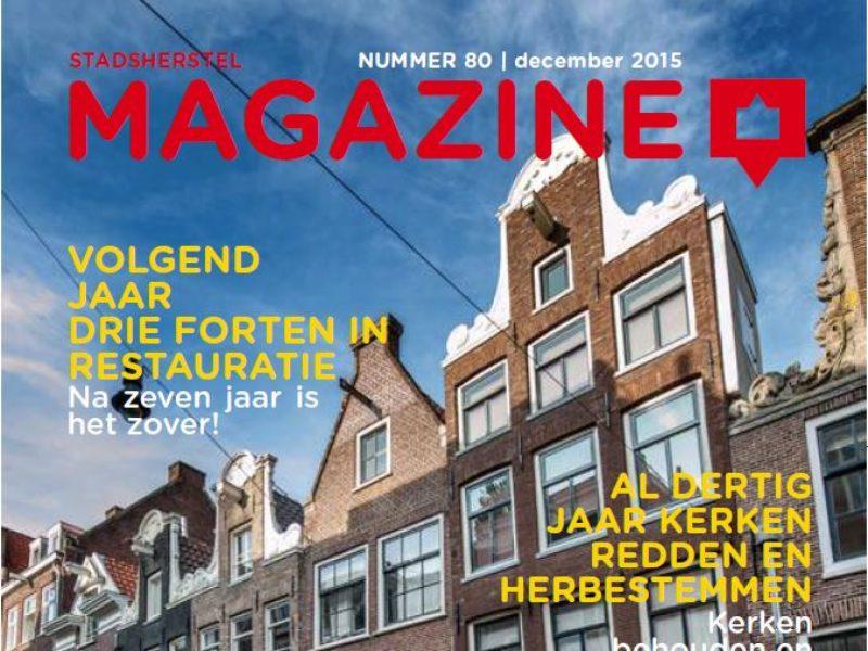 Voorkant Stadsherstel magazine 2015