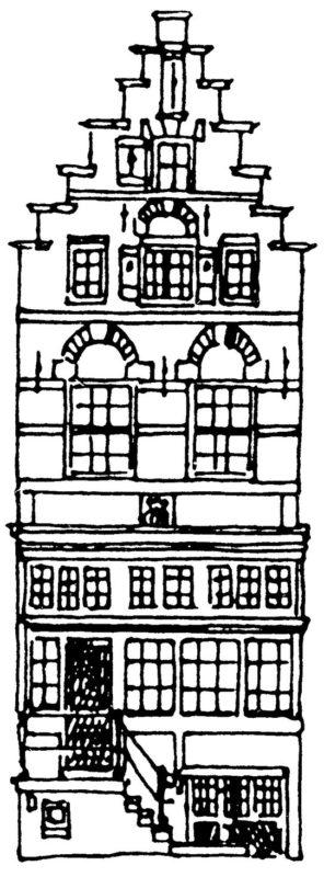 Tekening gevel pand Herengracht 361
