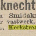 Kerkstraat 414 Amsterdam advertentie Smidsknecht