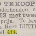 Kerkstraat 414 Amsterdam advertentie krant fornuis