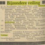 De sieraden van Magasin Occasion worden in 1957 geveild in de Kroon op het Rembrandtplein.