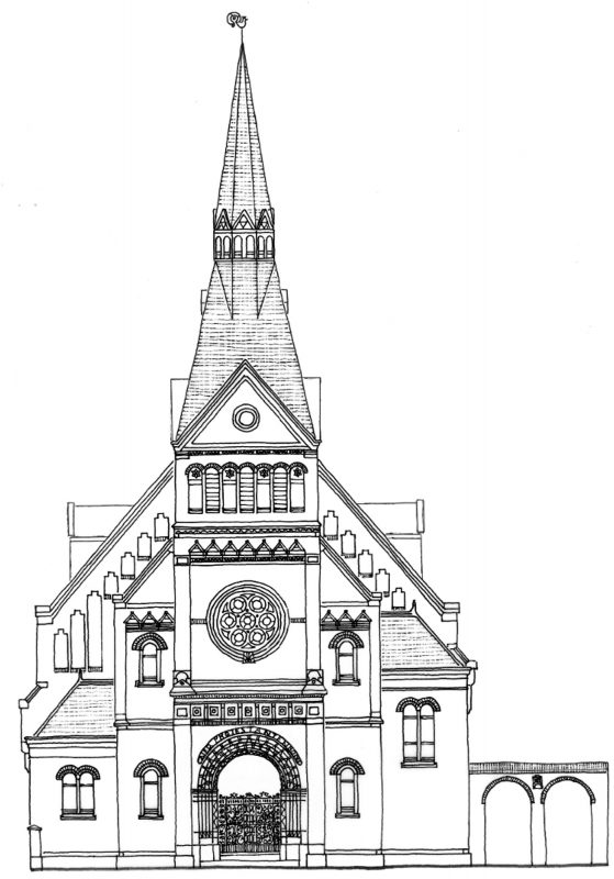 Tekening gevel pand Oudgracht 69 van Houtenkerk Weesp