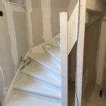 De nieuwe trap naar zolder.