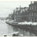 Spaarne tussen de Melkbrug en de Gravestenenbrug, 1965, Gemeente Haarlem