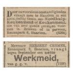 V.b.n.b. Noodhulp Het Nieuws van den Dag Kleine Courant - 22-07-1907 / Het Nieuws van den Dag Kleine Courant 08-08-1913.