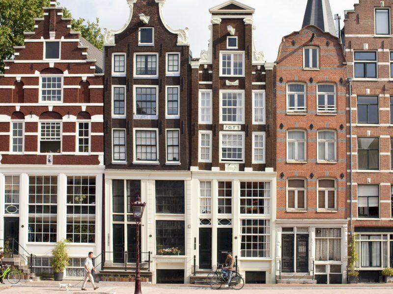Korte prinsengracht 5, 7, 9, allen ontworpen door meester-metselaar Pieter Cornelisz.