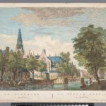 Oudezijds Voorburgwal en Oude Kerk , Fouquet naar Jan de Beijer 1760