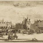 Het hoge huis met torentje is nr. 100 (1693).