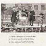 Spotprent op de onwettige afzetting van W.G. Dedel, vader van Isabella Hodshon-Dedel (1787).