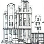 Pentekeningen Brouwersgracht gevels
