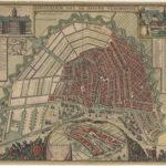 De zeventiende-eeuwse grachten werden als een waaier rondom de oude binnenstad gelegd. Frederik de Wit (1662), Stadsarchief Amsterdam.