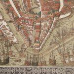 Lithografische reproductie van de kaart van Cornelis Antonisz met links ons onbebouwde perceel.