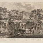 Amstelkerk met links daarvan Reguliergracht 67. Prent uit collectie Atlas Dreesmann.