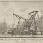 De grote en kleine kraan aan het IJ, 1710, Pieter Schenk (1660-1713)