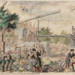 Kraan op de groentemarkt aan de Prinsengracht, ca. 1690