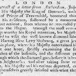 Krantenknipsel over het bezoek aan de diamantfabriek.