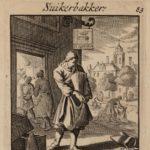 1695 prent suikerbakker Luyken, Jan (1649-1712)