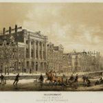 Ijsvermaak Keizersgracht met Felis Meritis, 1868