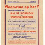 Na de oorlog vlootshow voor Churchill