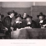 De Staalmeesters 1661 naar Rembrandt. (ca 1854)