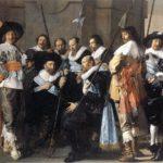 Schuttersstuk door Frans Hals met links zittend kapitein Reinier Reael met officiersstaf.