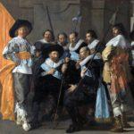 Het schuttersstuk van de magere compagnie met links zittend Reinier Reael.