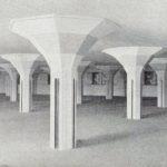 Pakhuis de Zwijger, Paddestoelenconstructie.