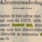 Van 1933 tot 1935 zit het districtskantoor van de Communistische Partij Holland (C.P.H.) in het pand.