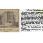 Krantenartikelen over de verkoop van de speciale Olympiade postzegels bij het Postkantoortje.