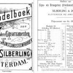 - Pagina en prijslijst uit de Silbering catalogus