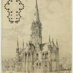 Tekening Vondelkerk van P.Cuypers d.d. 1875
