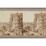 De Nieuwezijds Voorburgwal voor demping. Gaudin, Alexis (1858).