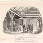 Kroonprins Willem bezoekt de soeploods in december 1852.