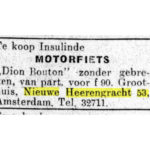 Krantenartikel (1926).