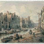 De Goudsbloemgracht anno 1850. Nu de Willemsstraat, gedemt vanwege slechte hygiëne.