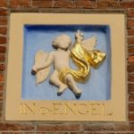 Andere gevelsteen hoek Prinsengracht/ Spiegelgracht van Sjuwke Brinkgreve- kunst.