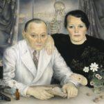Kunstwerk van Schumacher van de heer en mevouw Odinot, bij wie hij zat ondergedoken.