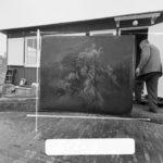 Schildering uit waarschijnlijk de bouwtijd die na de demontage verdwenen is. Foto: Schaep (1969).