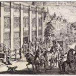 Hof van de Ed. Heer de Pinto door Romeyn de Hooghe (1686-1700).