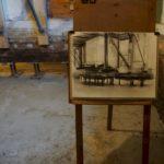 Tekening van Merkelbach in het souterrain tijdens het funderingsherstel. Foto: Chris Smeenk.