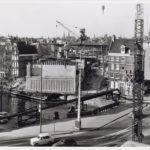 Afzinken 1975 caissons aan de Nieuwe Herengracht