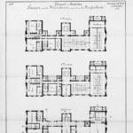 Bouwtekening / Plattegrond uit 1889 .