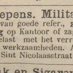Het Nieuws Van De Dag, Kleine Courant 1886