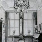 Interieur, tekening door Merkelbach.