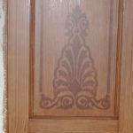 Palmet sjabloonwerk en houting wand 1e verdieping.