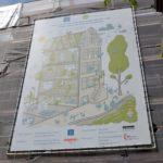 Het bouwbord van dit groene project.