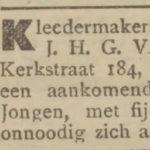 Huurder in 1906, De Courant 1906