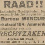 Huurder In 1909, De Courant 1909