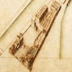Detail van de kaart van de Vierde Uitleg van Jacob Bosch, 1679. Met het huis met fontein. Afbeelding Walther Schoonenberg/Stadsarchief