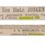 Krantenartikelen over de Spuistraat 255. V.b.n.b. 1-5-1880 Nieuws v.d. Dag / Nieuws v.d. Dag 04-04-1898.